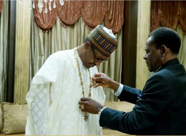 Buhari receives highest national honour in Equatorial Guinea