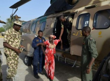 Rescued Chibok girl, Amina Ali arrives Presidential Villa