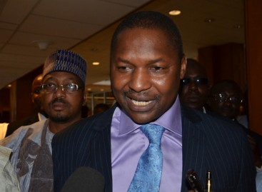 Finally, Malami appears before Senate, defends forgery case against Saraki, Ekweremadu