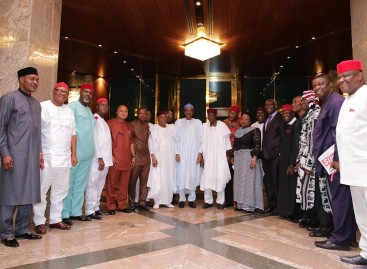 Buhari meets governors, Igbo leaders