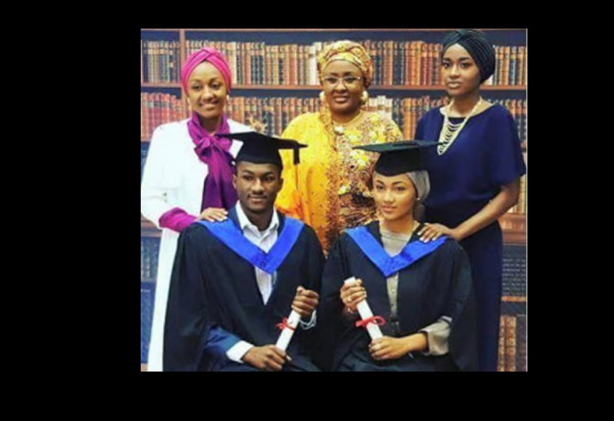 Photos: Buhari's children graduate from UK varsity