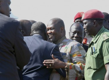 South Sudan swears in new vice president as incumbent still missing