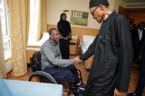 Buhari ends engagements in Germany, visits hospitalised Nigerian soldier