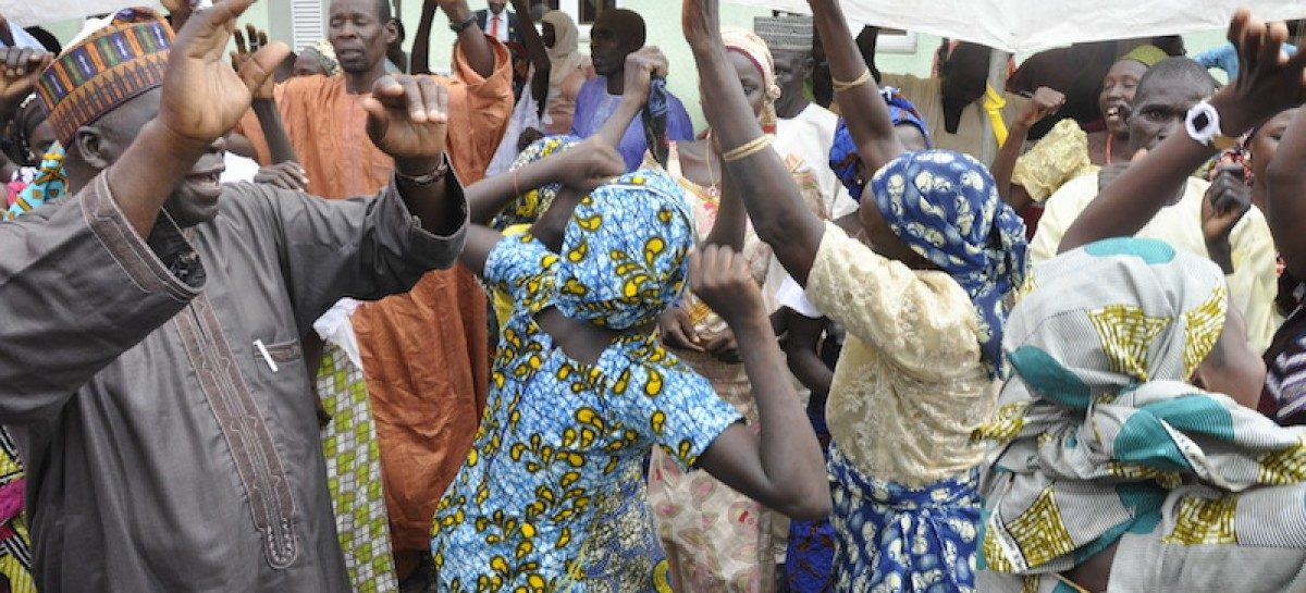 Freed Chibok girls reunite with parents