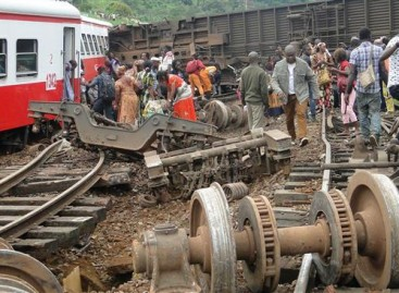 Derailed train kills 55 in Cameroon