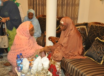 Aisha Buhari condoles with Buratai over father in-law's death