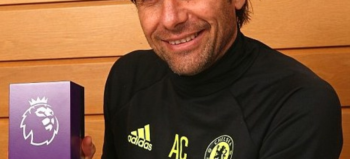 Chelsea boss Antonio Conte named manager of the month for a record third time in a row