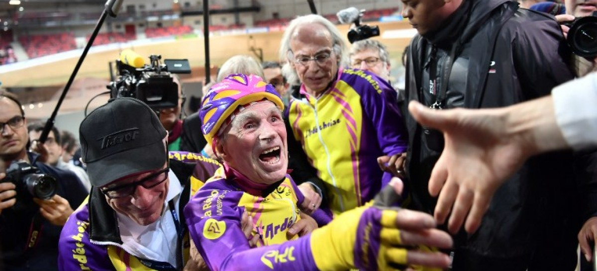 105-year-old French cyclist breaks own record