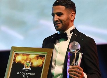 Algeria's Rihad Mahrez is 2016 African Footballer of the Year