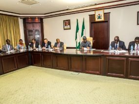 Ag President Osinbajo receives IMF team on a courtesy visit, State House