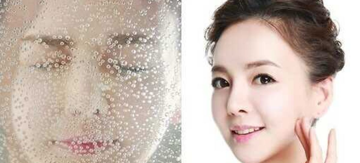 Amazing use of sparkling water as a beauty treatment
