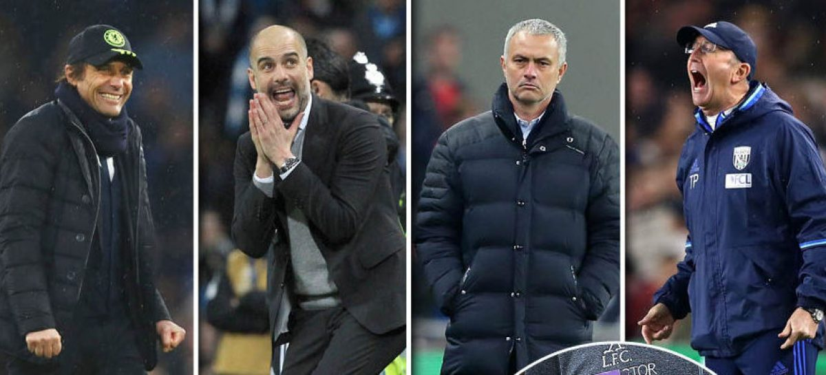 Guardiola, Mourinho, Conte nominated for Manager of the Month award