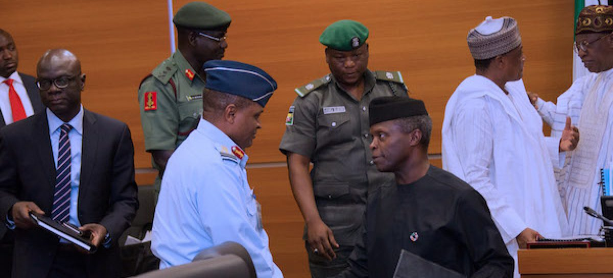 Minister, service chiefs brief Osinbajo on security