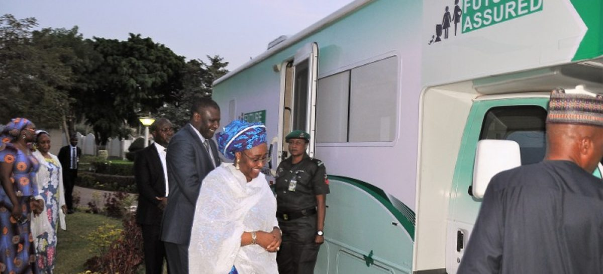 Aisha Buhari commissions mobile clinic