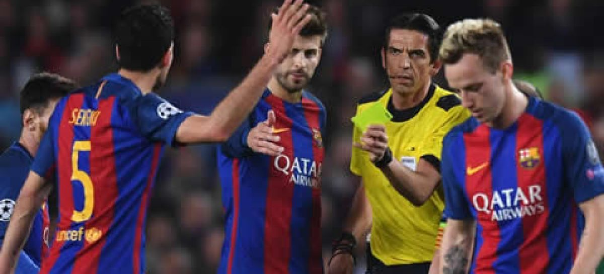 Barcelona versus PSG referee faces UEFA demotion