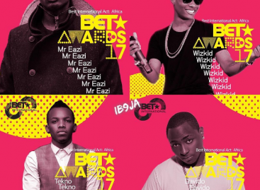 Davido, Wizkid, Tekno nominated for BET awards