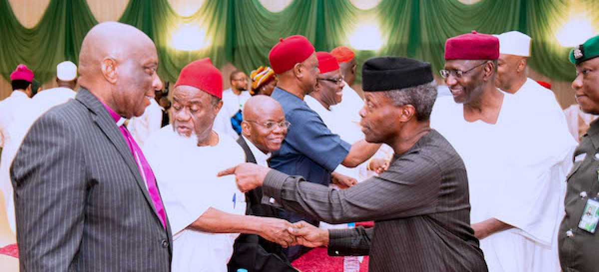 Wars start with words, Osinbajo tells Igbo leaders
