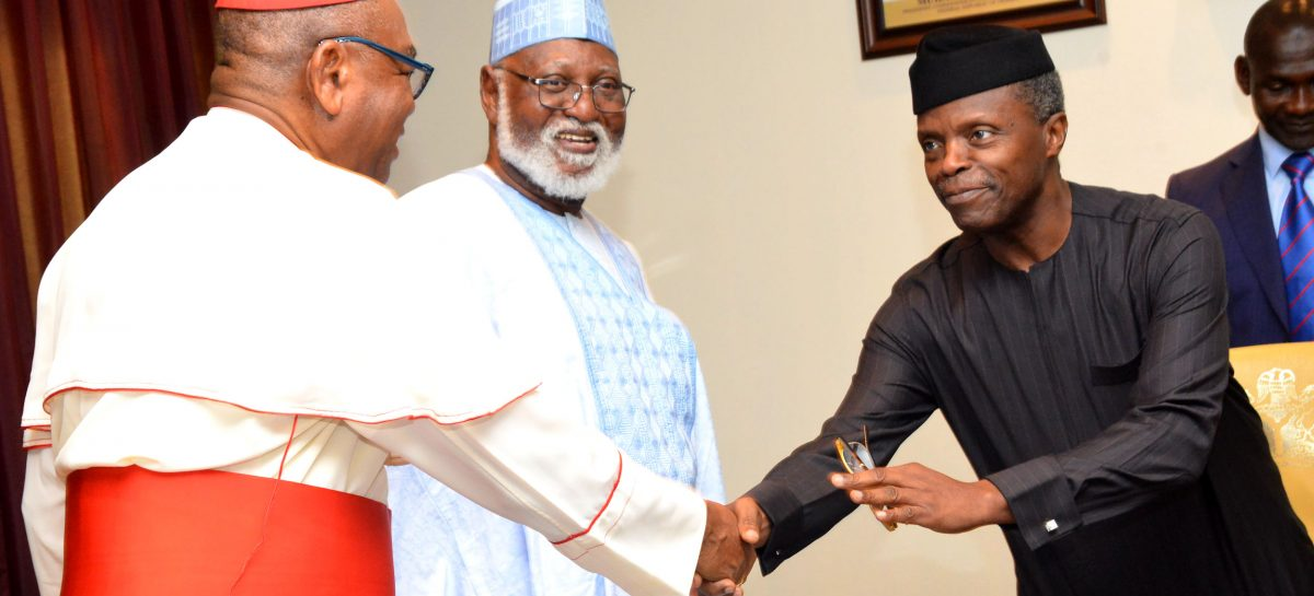 Osinbajo in close-door meeting with Abdulsalami peace committee