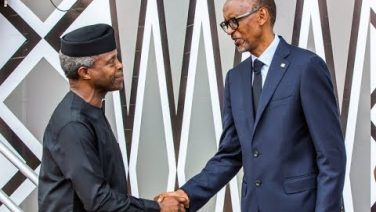 Video: Acting President Yemi Osinbajo attends President Kagame's inauguration