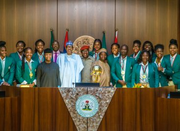Buhari showers N1m cash gifts on D'Tigress' players