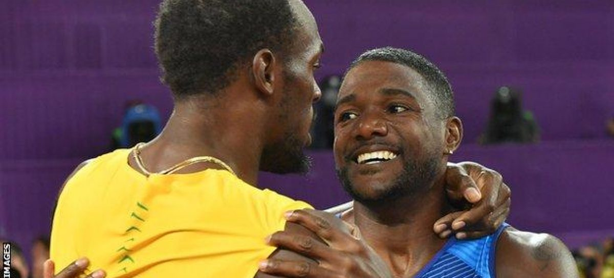 Gatlin stuns Bolt in 100m final