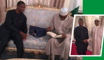Buhari hosts Pastor Adeboye in London