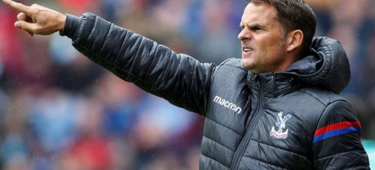 Palace manager, Frank De Boer, fired