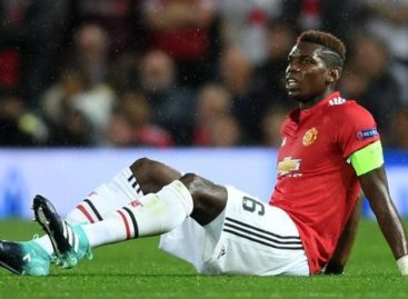 Pogba out for six weeks with hamstring injury