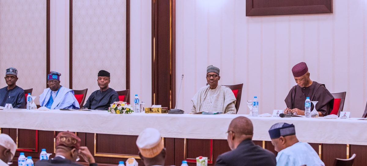 Buhari chairs APC caucus meeting