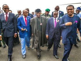 Vice President Yemi Osinbajo commissions Petroleum Storage Facility with 300m litres capacity Tank Farm in Ibefun, Ogun State (Photo)