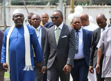 Dr. Emmanuel Ibe Kachikwu in conjunction with the Inter-Ministerial Working Group on Niger Delta, Visits Imo State.