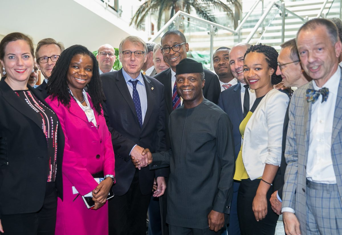 Vice President Yemi Osinbajo receives a delegation of German Industry and Commerce in Nigeria led by Ulrich Konstantin Rieger at the Presidential Villa, Abuja, on Tuesday, June 19, 2018. Photos: State House