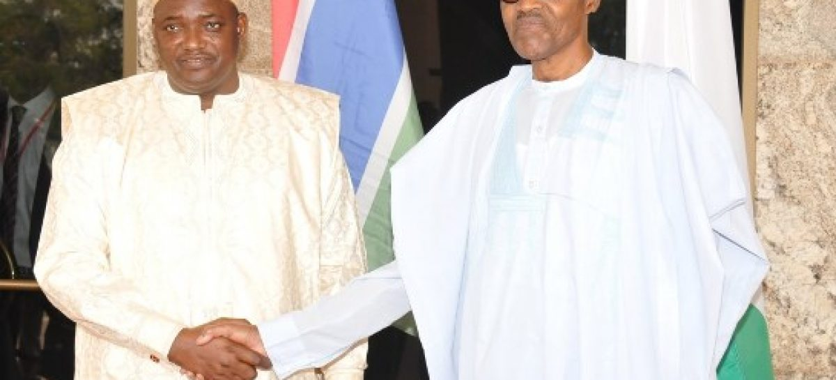 Buhari meets Gambia's Adama Barrow, says no development without stability