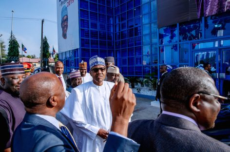 Buhari visits proposed campaign office
