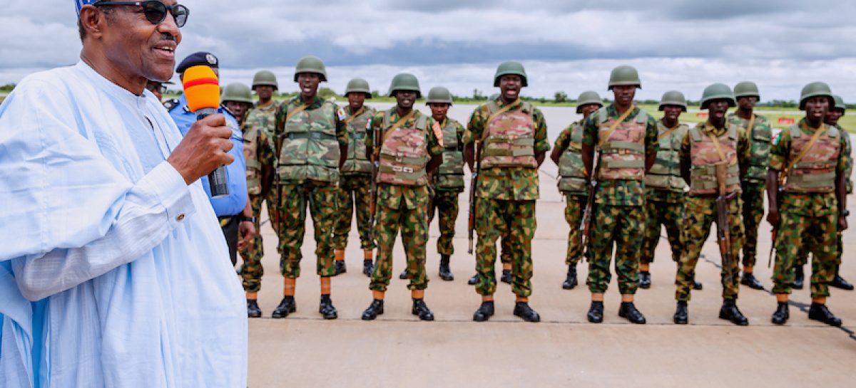 Buhari thanks troops for service to nation