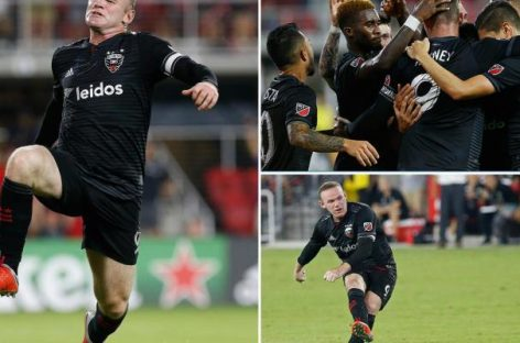 Rooney scores double in DC United's convincing win