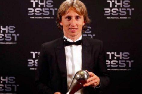 Modric wins 2018 FIFA Player of the Year award