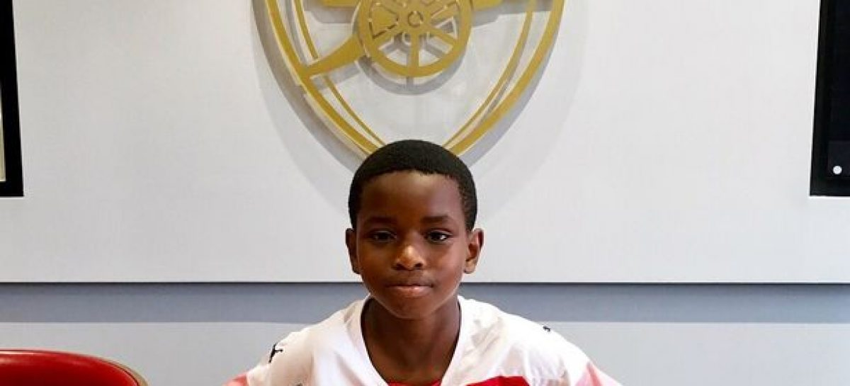 Arsenal sign 9-year-old Nigerian wonderkid