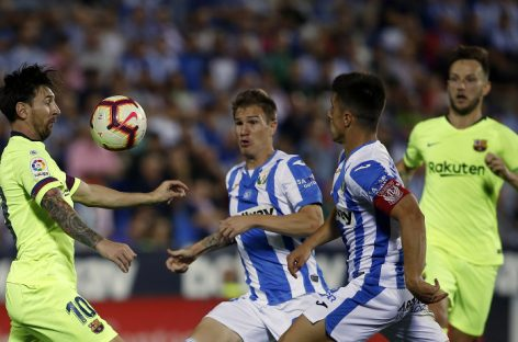 Barcelona lose to bottom side, Leganes