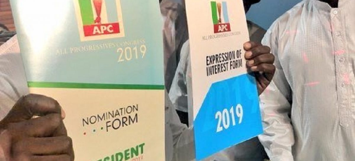 President Buhari receives APC presidential nomination forms Tuesday