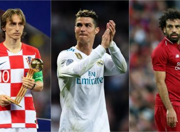 Ronaldo, Modric, Salah nominated for FIFA player of the year award