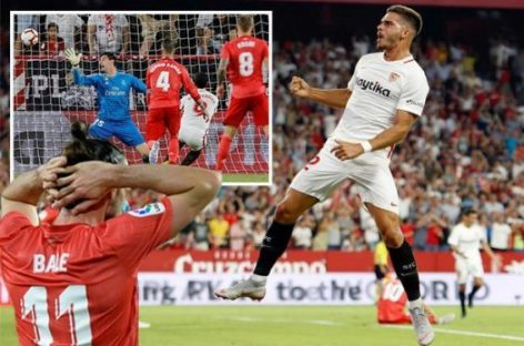 Real miss chance to go top of La Liga, lose 3-0 to Sevilla