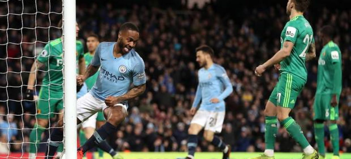 Sterling hits hat-trick as Man City go 4 points clear