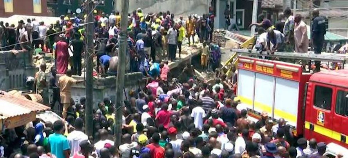 Lagos building collapse: Buhari sympathises with victims' families